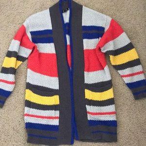 EXPRESS striped cardigan
